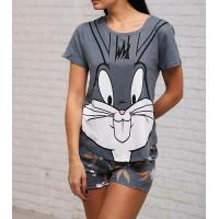 Женский летний трикотажный комплект-пижама Бакс-Бани