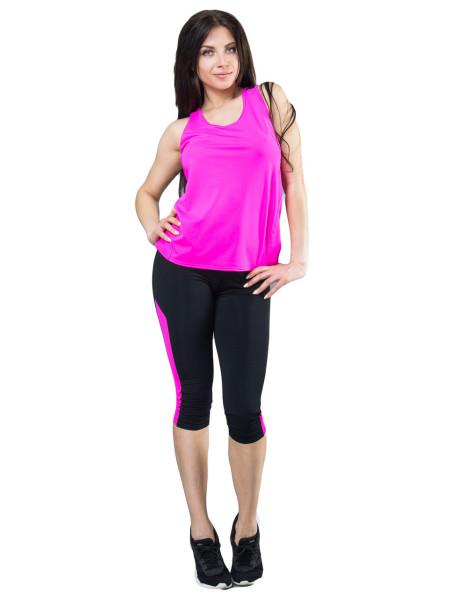 Спортивная молодежная майка с сеткой цвет розовый