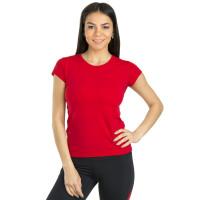 Футболка спортивная женская красного цвета