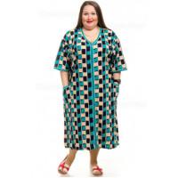 Женский летний халат из трикотажа классический