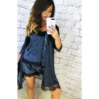 Женский велюровый комплект с халатом