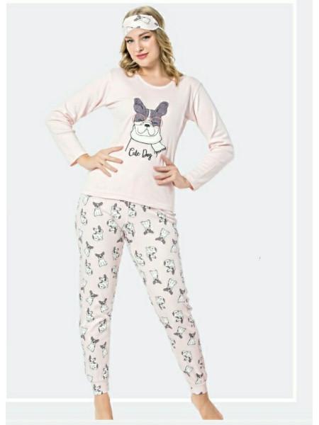Женская пижама-костюм из 100% хлопка Турция