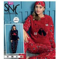 Теплая пушистая пижама-костюм софт