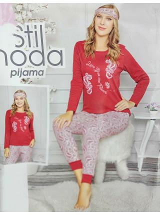 Женская зимняя пижама из хлопка