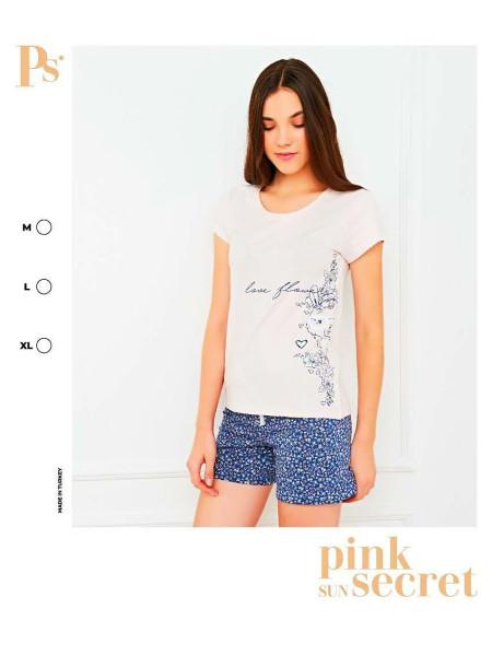 Женская пижама футболка и шорты из натурального хлопка