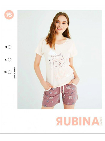 Женская пижама футболка с шортиками Pink Secret
