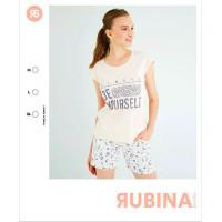 Летняя женская пижама из натурального облегченного хлопка