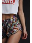 Женская шелковая пижама с принтом Marvel