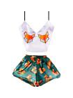 Женская шелковая пижама лиса, лисички
