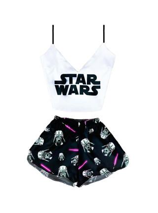 Женская шелковая пижама Star Wars звёздные войны