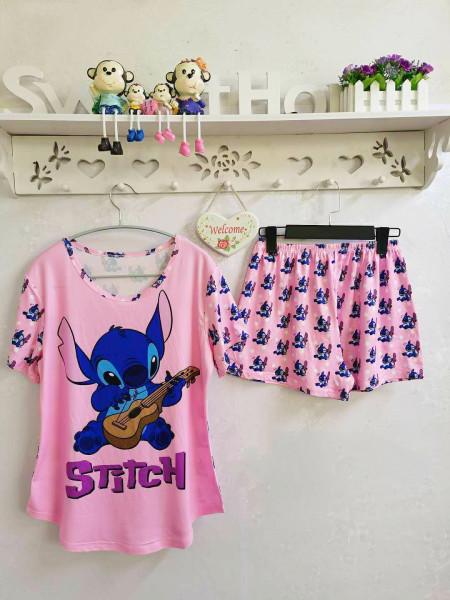 Яркая пижама футболка и шорты Стич