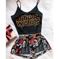 Женская шелковая пижама Star Wars цвет черный