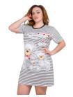 Женское летнее платье-туника с медвежатами