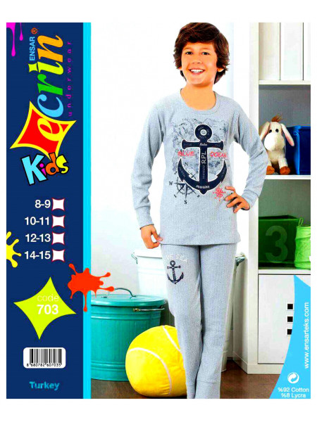 """Пижама подростковая кашемир для мальчика 8-14лет """"EKRIN"""""""