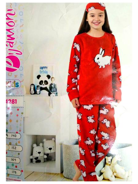 Пижама подростковая махровая для девочек Турция