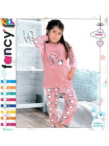 Детская махровая пижама для девочек
