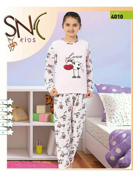 Махровая пижама для девочки Турция