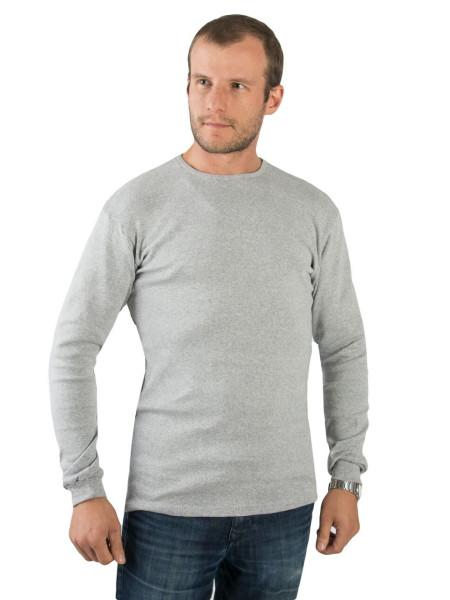 Гольф мужской с начесом серый