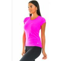 Футболка спортивная женская розового цвета
