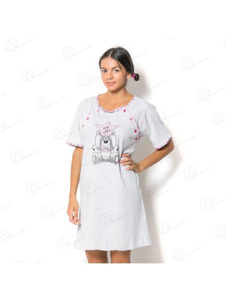 Туника-сорочка для кормящих мам из хлопка